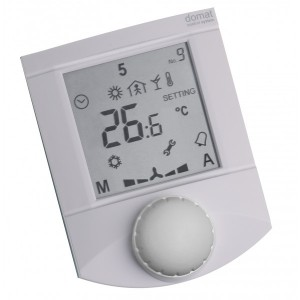 Pokojový ovladač, Ethernet PoE, teplota