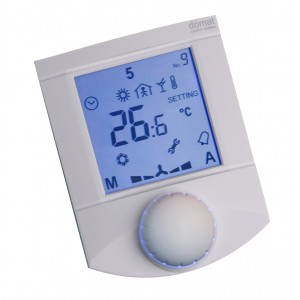 Communicative room unit, RS485, temperature, rH, 1 AI